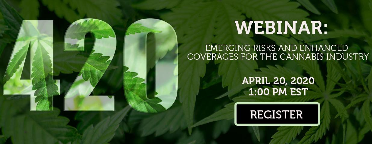 Register for Cannabis Webinar on 4/20/20
