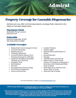 Download PDF: Property Coverage for Cannabis Dispensaries