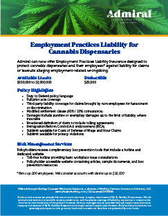 Download PDF: EPLI for Cannabis Dispensaries